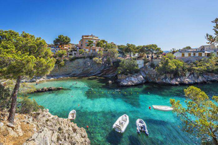 Cove of Cala Fornells in Majorca
