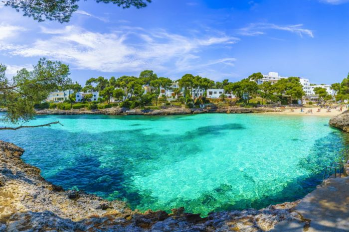 Cala Dor beach at Cala d'Or city, Palma Mallorca Island, Spain